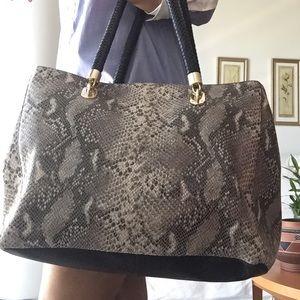 NWT Cole Haan moc snakeskin bag